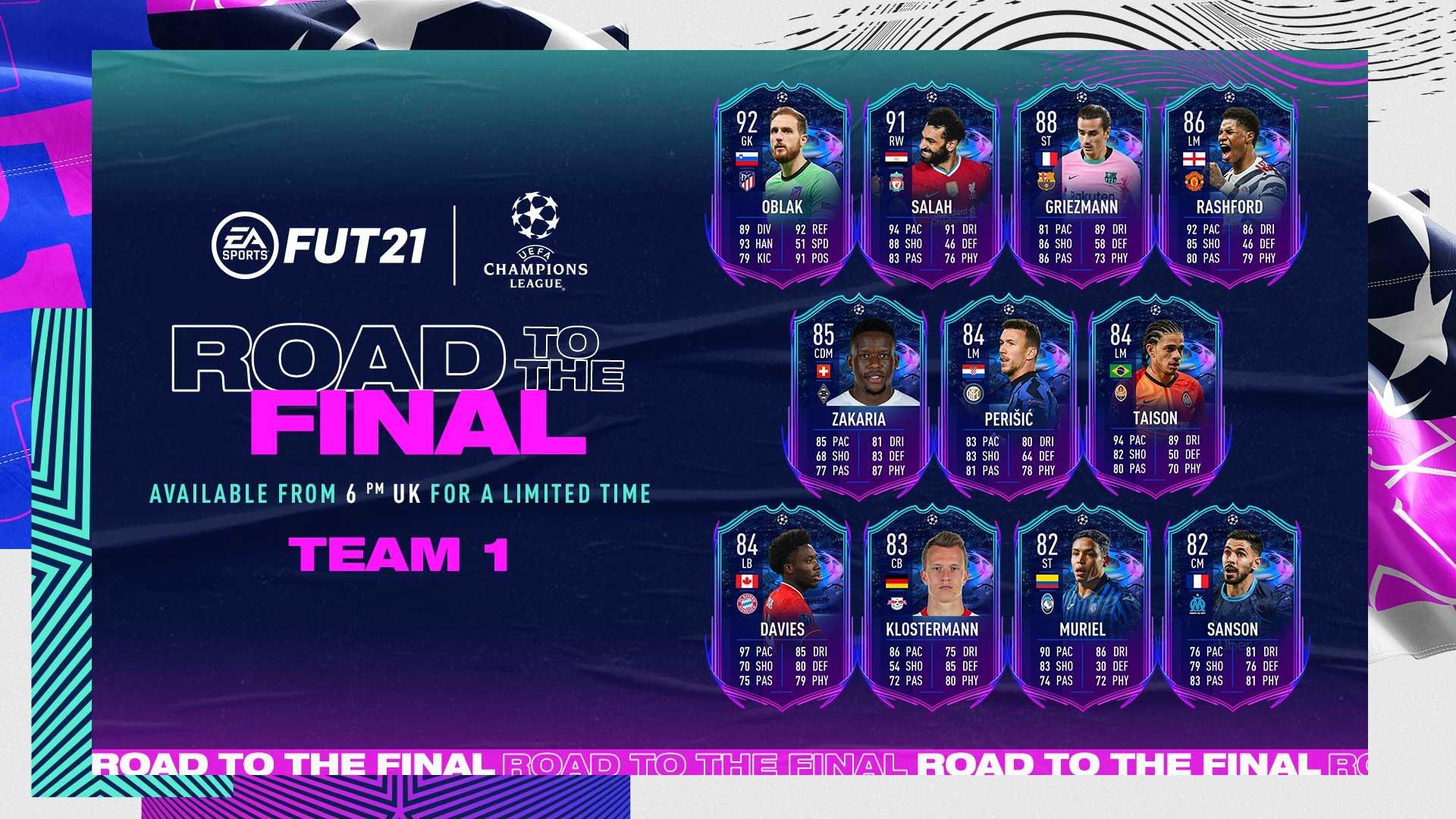 Evento Rumo à Final para FIFA 21 Ultimate Team