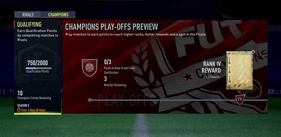 FIFA 22 FUT Champions Main Screen