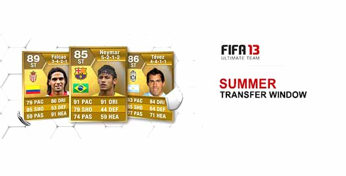 All the FIFA 13 Ultimate Team Summer Transfers Cards