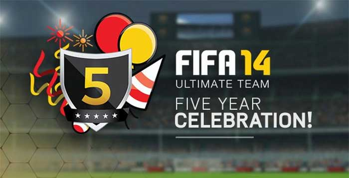Celebrate 5 years of FIFA Ultimate Team with 5 free Packs