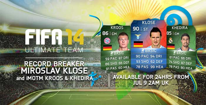 Record Breaker Miroslav Klose got a Special FUT 14 Card