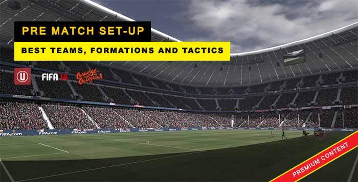 FIFA 14 Pre Match Set-up: Best Teams, Formations and Tactics