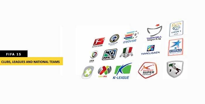 FIFA 15 Clubs, Leagues and National Teams