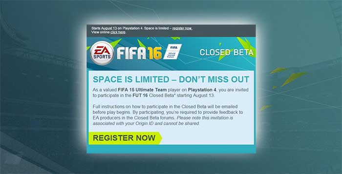 FIFA 16 Closed Beta