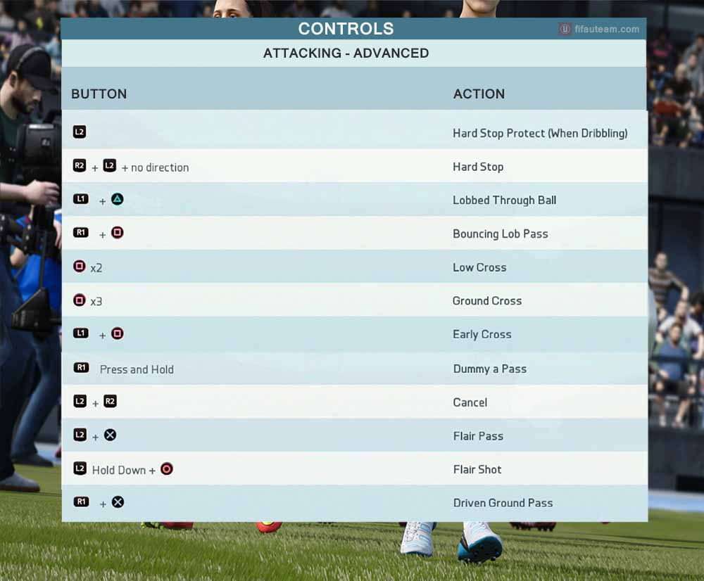 pes 2018 advanced controls ps4