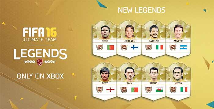 New FIFA 16 Legends for XBox