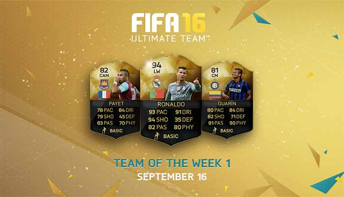 Equipa da Semana 1 - Todas as TOTW de FIFA 16 Ultimate Team