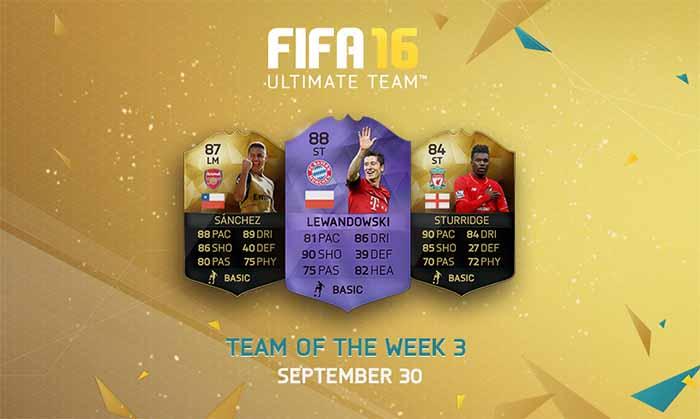 Equipa da Semana 3 - Todas as TOTW de FIFA 16 Ultimate Team