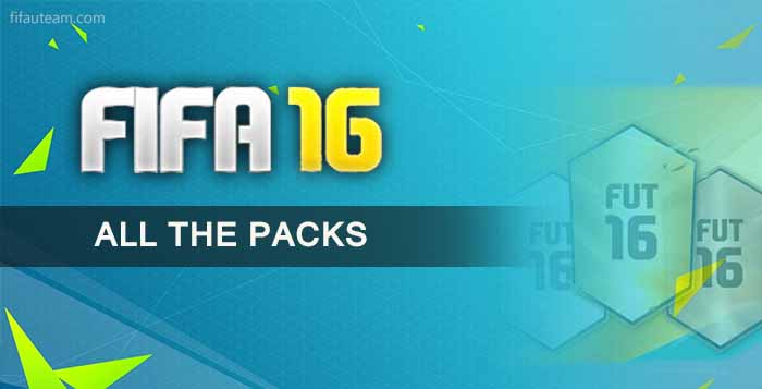 All the FIFA 16 Ultimate Team Packs