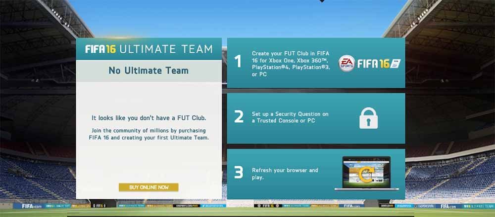 FUT 16 Web App Most Common Problems