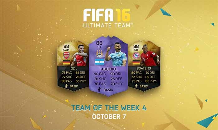 Equipa da Semana 4 - Todas as TOTW de FIFA 16 Ultimate Team