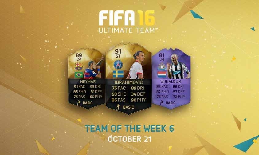 Equipa da Semana 6 - Todas as TOTW de FIFA 16 Ultimate Team
