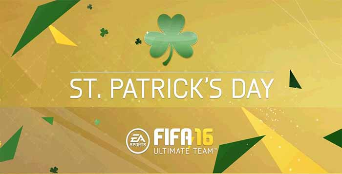 St. Patrick's Day Green Cards of FIFA 16 Ultimate Team