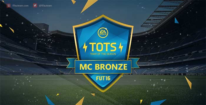 FIFA 16 Bronze Most Consistent Never IF Team of the Season