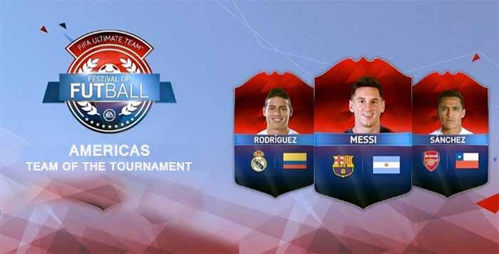 FIFA 16 Copa America's Team of the Tournament