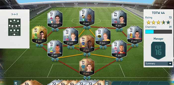 Equipa da Semana 44 - Todas as TOTW de FIFA 16 Ultimate Team