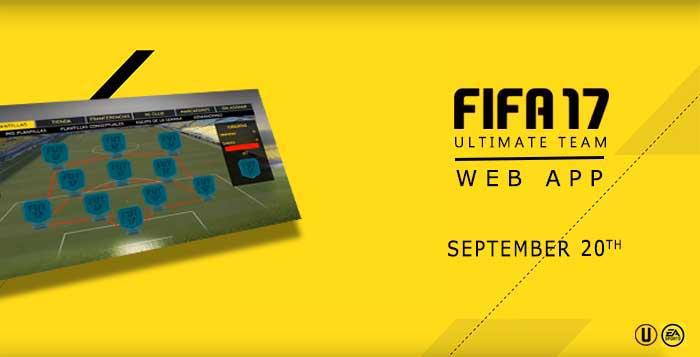FUT Web App para FIFA 17 - Data