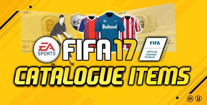 FIFA 17 Catalogue Items for FIFA 17 Ultimate Team