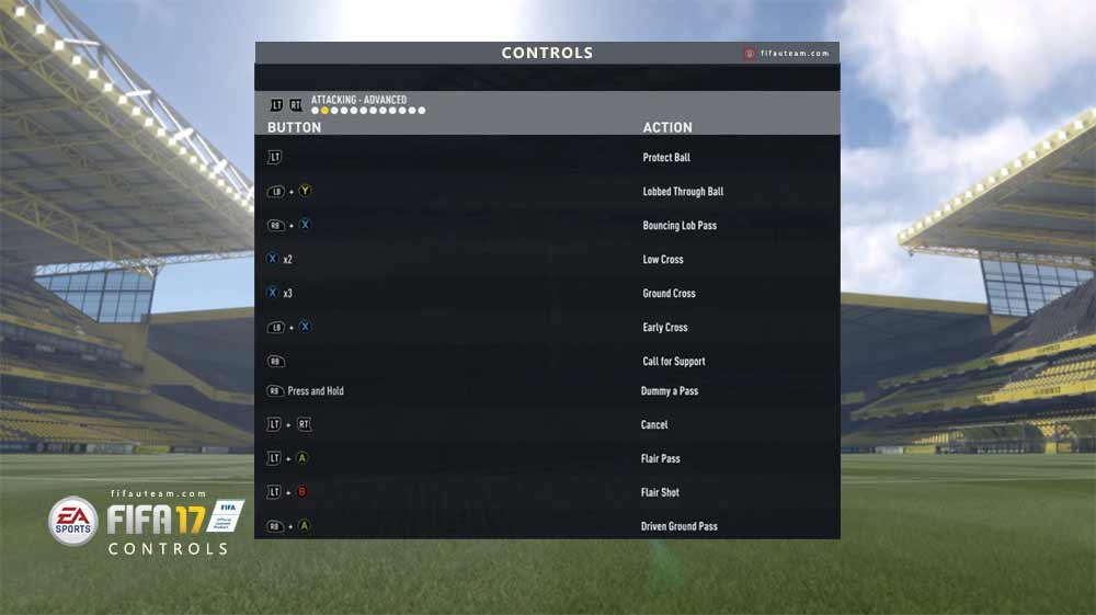FIFA 17 Controls for Playstation and XBox