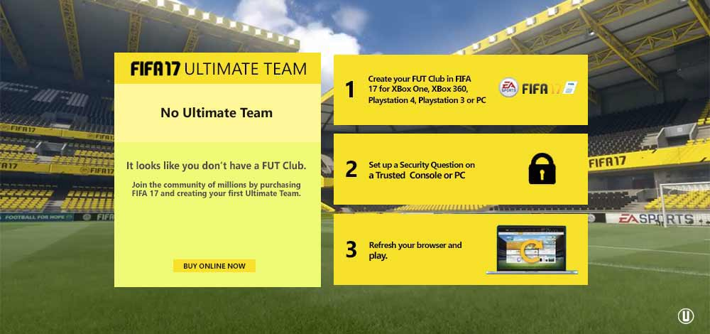 FUT Web App for EA Sports FIFA 17 is now live !
