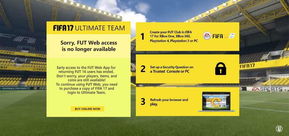 Guia de Resolução de Problemas Mais Comuns da FUT 17 Web App