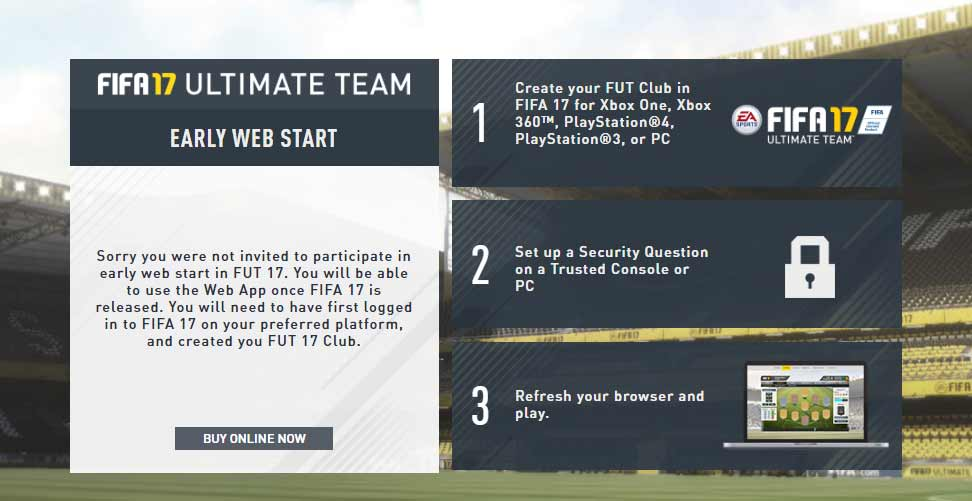FIFA 19 Web App Release Date and FUT Webstart Details