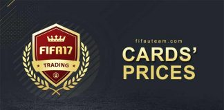 FIFA 17 Cards Prices Evolution Along the Year