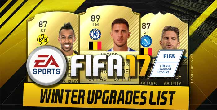 FIFA 17 Winter Upgraded Cards - Complete and Updated List