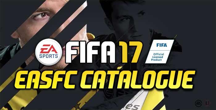 FIFA 17 EAS FC Catalogue Guide