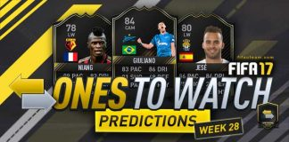 FIFA 17 OTW Predictions - Investment Tips for Week 28