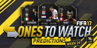 FIFA 17 OTW Predictions - OTW Investment Tips for Week 29