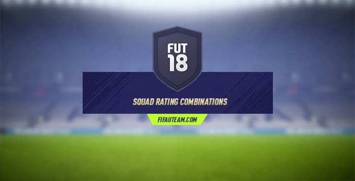 FIFA 18 Squad Rating Combinations