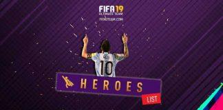 FIFA 19 Heroes Cards List
