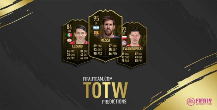 FIFA 19 Team of the Week Predictions