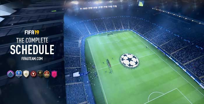 FIFA 19 Schedule - All the Dates for FIFA 19 Ultimate Team