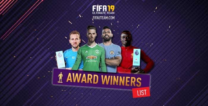 FIFA 19 Award Winner Cards List