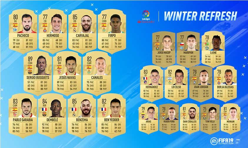 FIFA 19 Ratings Refresh - FIFA 19 Winter Upgrades
