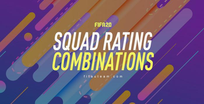 FIFA 20 Squad Rating Combinations