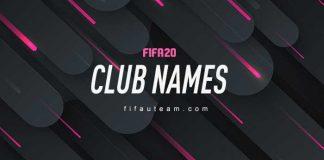 Best FIFA 20 Club Names