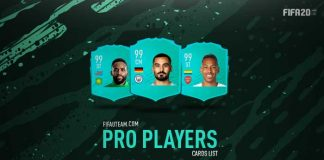 FIFA 20 Pro Players Cards List