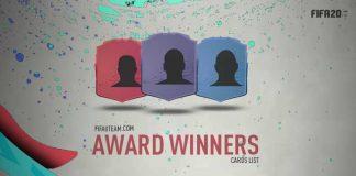 FIFA 20 Award Winner Cards List
