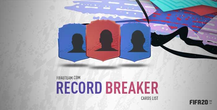 FIFA 20 Record Breaker Cards List