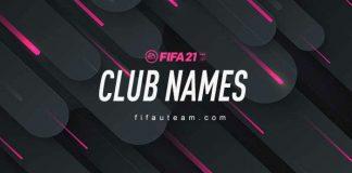 FIFA 21 Team Names